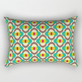 Vintage 60s geometry pattern 15 Rectangular Pillow