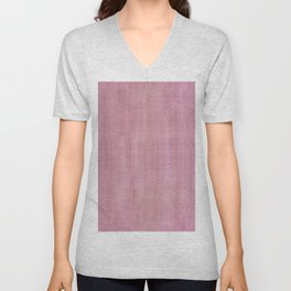Soft Pink Dry Brush Paint Strokes, Texture Art Unisex V-Neck