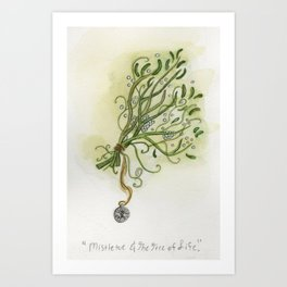 Mistletoe & The Tree of Life Art Print