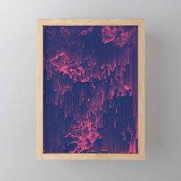 Glitchin' - Abstract Pixel Art Framed Mini Art Print