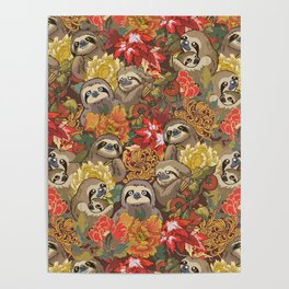 Because Sloths Autumn Poster