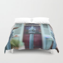 French Quarter Gate Duvet Cover