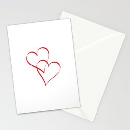 Embracing Hearts Stationery Cards