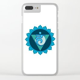 Vushuddha Throat Blue Chakra Clear iPhone Case