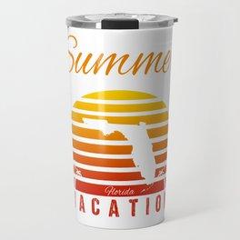 Summer Vacation Florida Miami Beach Holiday Sunset Retro Vintage Travel Mug