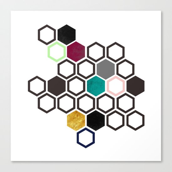 Hexagons Canvas Print