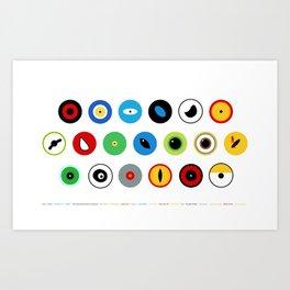 Movies Eye Guess Art Print