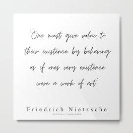 36  | 200319 |  Friedrich Nietzsche Quotes Metal Print