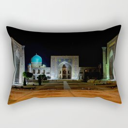 Registan square at night - Samarkand Rectangular Pillow