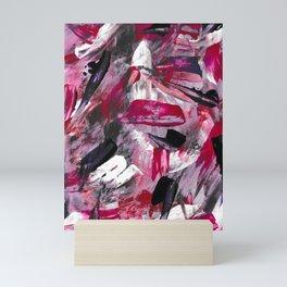 Pink Modern Abstract Wall Art Mini Art Print