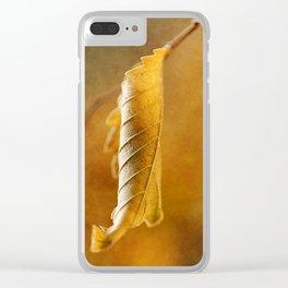 Autumn #4 Clear iPhone Case