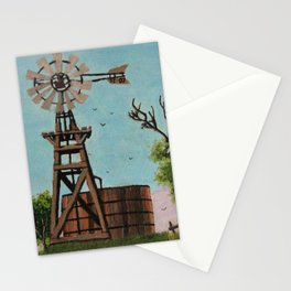Windmill Painting Stationery Cards