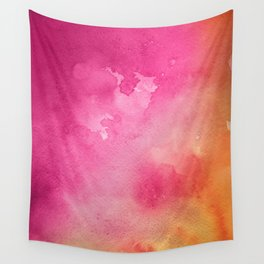 Original Painting In Bright Pink And Orange Wall Tapestry