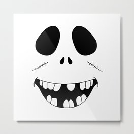 Smiling Zombie Face Metal Print