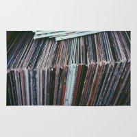 vinyl Area & Throw Rugs featuring Vinyl by Rachel Brown