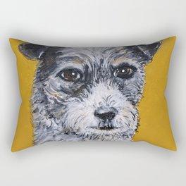 Terrier Mix Dog Portrait Rectangular Pillow