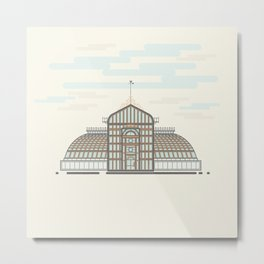 The GlassHouse Vector illustration Metal Print