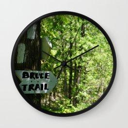 BRUCE TRAIL Wall Clock