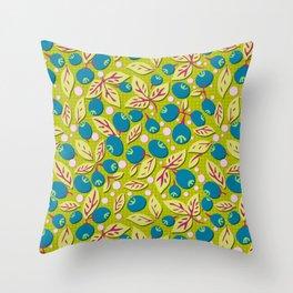 Blueberry Preserves Throw Pillow