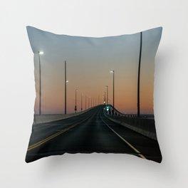 Bridge after sundown Throw Pillow