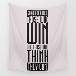 Lab No. 4 Sooner Or Later Richard Bach Motivational Quote Wall Tapestry