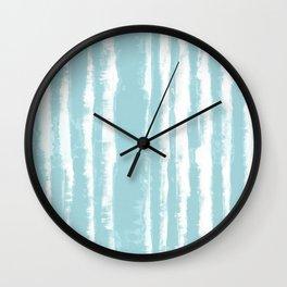 Shibori Stripe Seafoam Wall Clock
