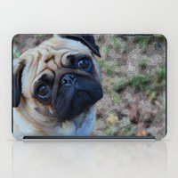 pug iPad Cases featuring Pug by Crayle Vanest