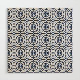 Azul Tiles II - Blue on White  (Patterns Please) Wood Wall Art