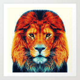 Lion - Colorful Animals Art Print