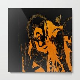 Insane heads Metal Print