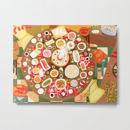 Family Feast for Chinese New Year's Eve Metal Print