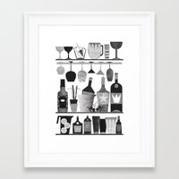 bar Framed Art Prints featuring Bar by Kata