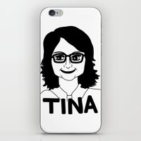 tina crespo iPhone & iPod Skins featuring Tina Fey by Flash Goat Industries