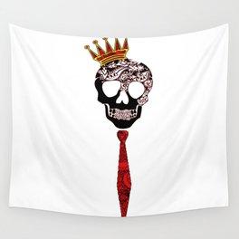 tgrimm necktie skull Wall Tapestry