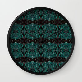 The Watch Links- Teal and Black Art Deco  Wall Clock