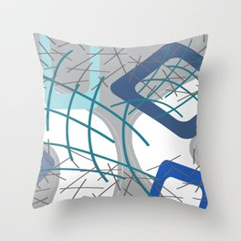 Rectangles Mikado pattern blue turquoise #society6 #buyart Throw Pillow