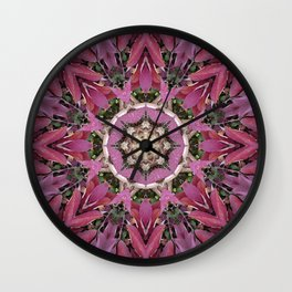 Autumn Leaves Kaleidoscope - White Ash Wall Clock