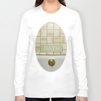 bath Long Sleeve T-shirts featuring Bath by Misspeden