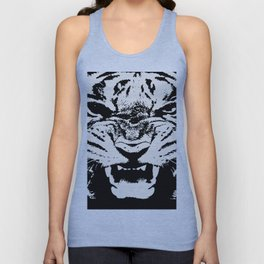 White Tiger Vector Unisex Tank Top