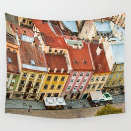 the rooftops of the city Wall Tapestry