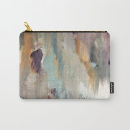 Gentle Beauty [4] - an elegant acrylic piece in deep purple, red, gold, and white Carry-All Pouch