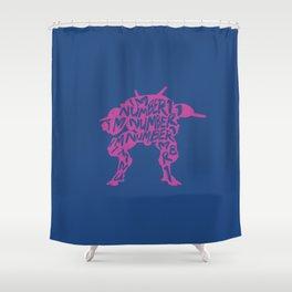 Dva type illustration Shower Curtain