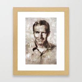 Charlton Heston, Hollywood Legend Framed Art Print