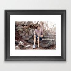 Wading Framed Art Print