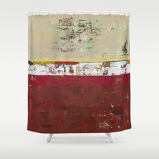 Buffalo Indian Red Burgundy Modern Abstract Art Shower Curtain