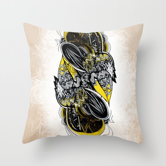 Bird sleeping Throw Pillow