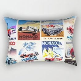 Monaco Grand Prix 1930 1966 Rectangular Pillow
