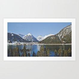 First glimpse of Switzerland Art Print