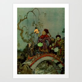 """""""In Search of a Nightingale"""" by Edmund Dulac Art Print"""