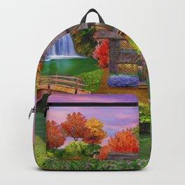 Autumn Home Landscape Backpack